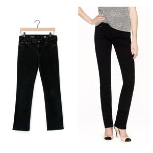 J. CREW mid-rise matchstick jeans in pitch black